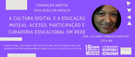 Cultura digital Pagina do MAE