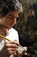 Escavação de fóssil humano, Lapa do Santo, PEst do Sumidouro, Lagoa Santa, MG